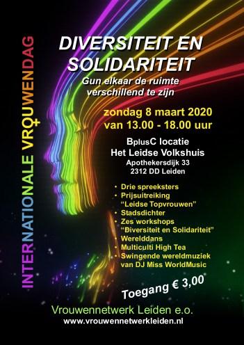 Poster Vrouwendag Leiden 2020